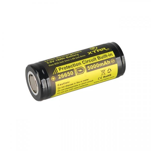 26650 Li-Ion Akku 5000 mAh 3,7 V PCB