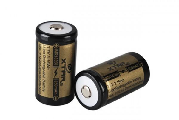 18350 Li-Ion Akku 850 mAh 3,7 V - ohne PCB