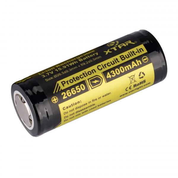 Sale 26650 Li-Ion Akku 4300 mAh 3,7 V - 6,7 A
