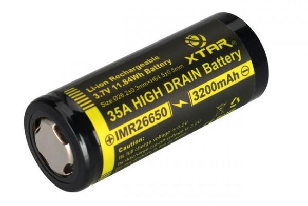 IMR26650 Li-Ion Akku 3200 mAh 3,7 V - 35 A